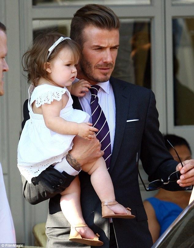 Дэвид Бэкхэм со своей дочкой Харпер
