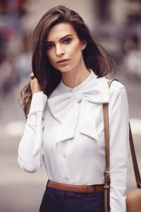 Фото - модель и актриса Эмили Ратажковски в сентябрьском выпуске Harpers Bazar
