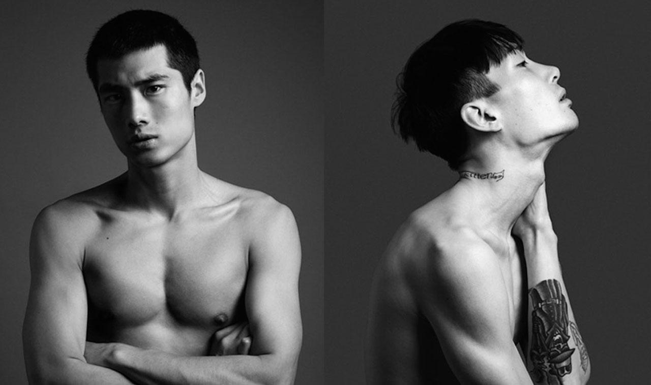 Накаченные красивые азиаты
