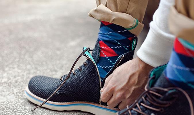 Мужские носки в ромбик