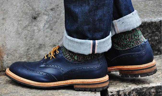 Носки под синие туфли