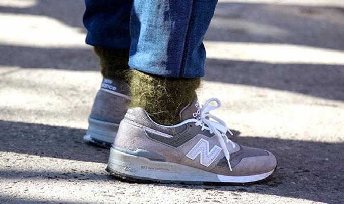 Шерстяные мужские носки под кроссовки фото