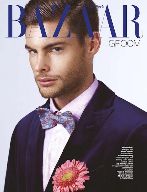 Бен на обложке Harpers Bazaar 2014