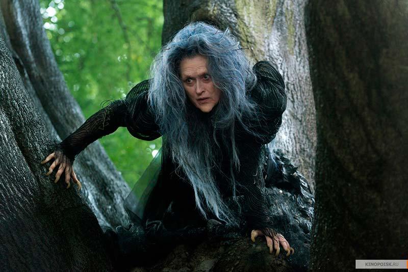 Стрип в образе ведьмы из фильма Чем дальше в лес