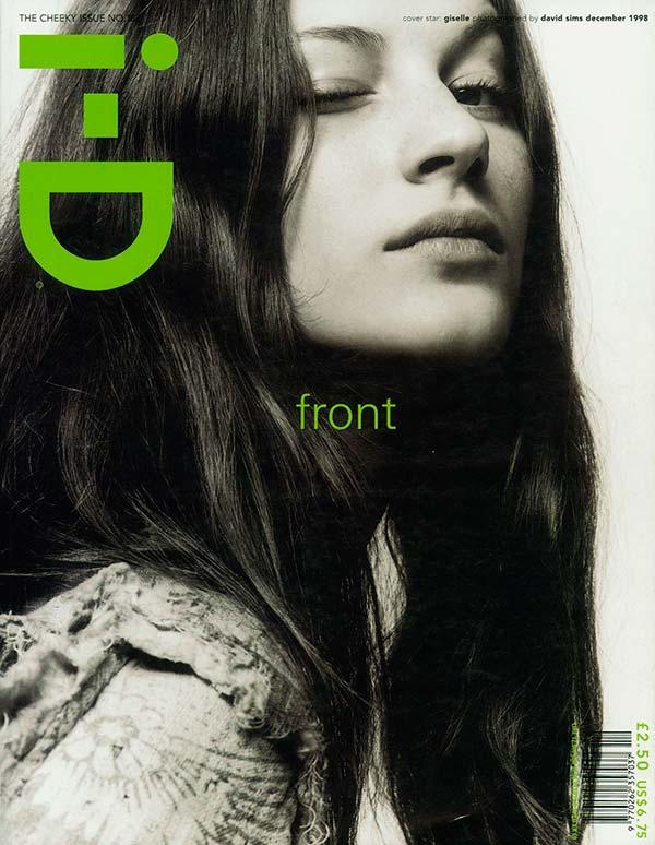 Жизель Бюндхен на обложке ID Magazine 1998