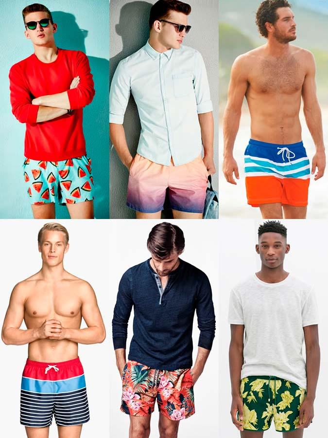 Фото - Плавательные шорты с принтами яркого тона