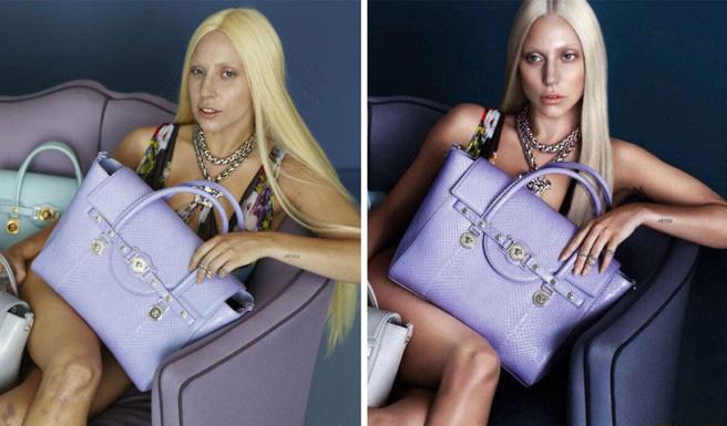 Фото - Леди Гага в кампании Versace 2014