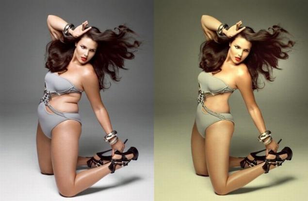 Фото - Модели размера плюс и фотошоп (модель Кэндис Хаффин)