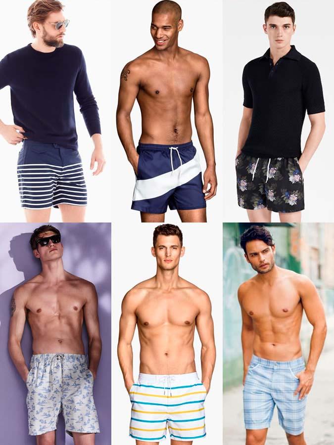 Модные мужские шорты 2017 в приглушенных тонах