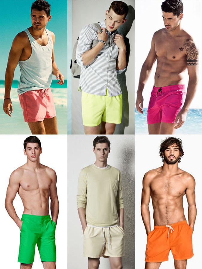 Фото - Мужские плавательные шорты разных цветов