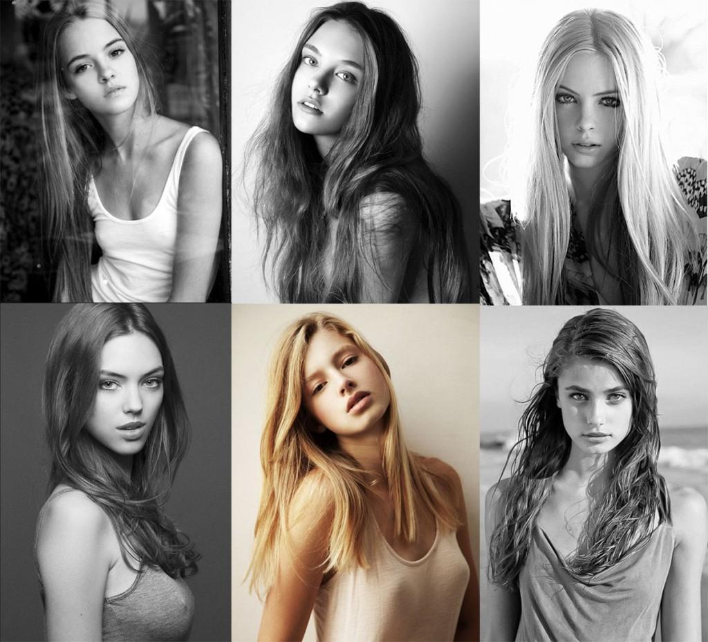 Молодые девушки модели