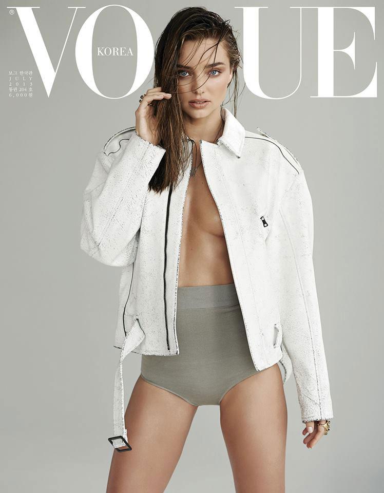 Фото - Модель Миранда Керр на обложке Vogue (Корея) июль 2013. Макияж Хун Ваннго