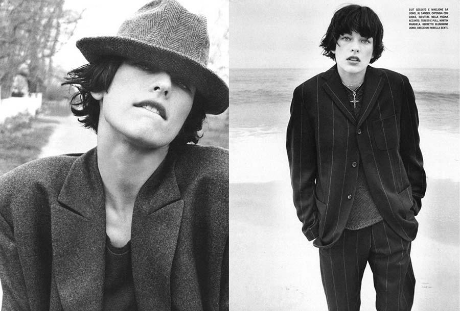 Фото - мужской стиль в женской моде - Мила Йовович