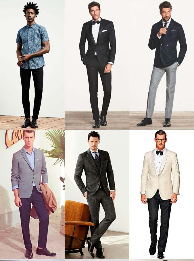 Фото - топ 5 мужской обуви: Черные кожаные оксфорды