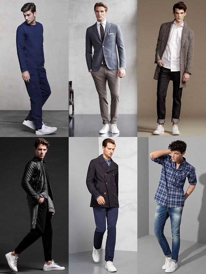 Фото - мужская обувь: белые кеды (кроссовки)