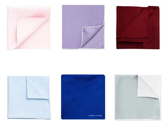 Фото - нагрудные платки однотонного цвета