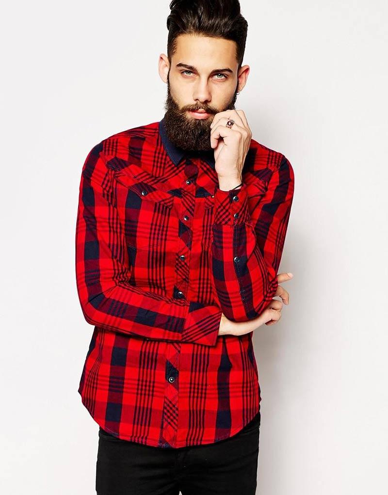 Мужская мода на осень 2015 - клетчатая рубашка