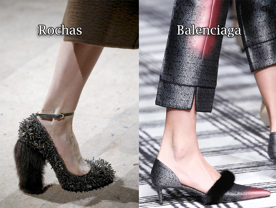 Фото - тренд осени 2015: обувь с отделкой из меха