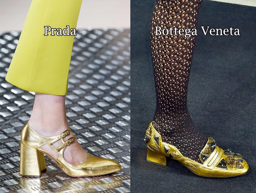 Фото - модная женская обувь 2015: золотые оттенки