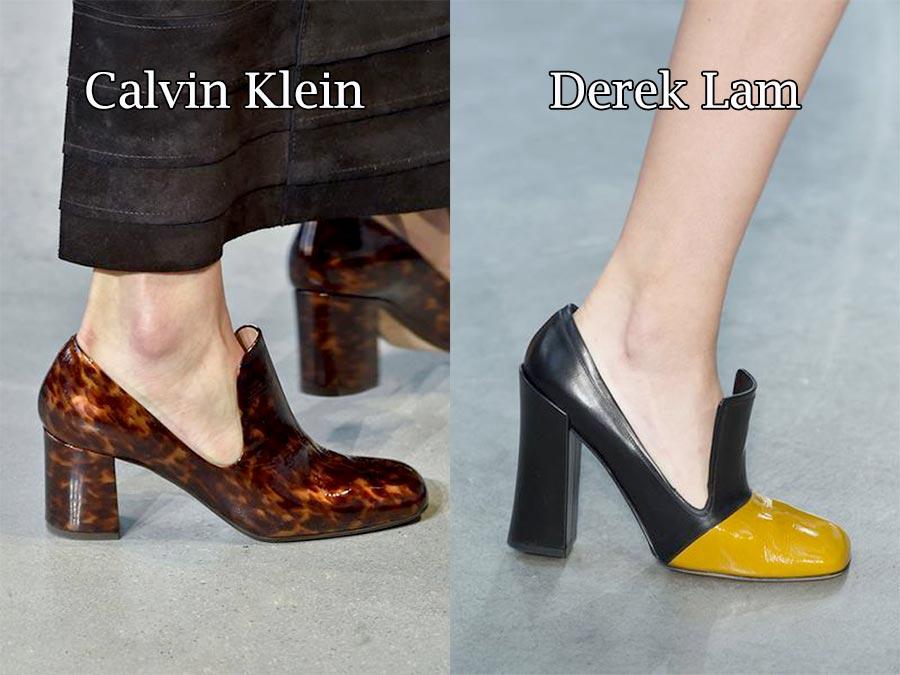 Фото - модная обувь осень 2015: Босоножки с прямоугольным носком