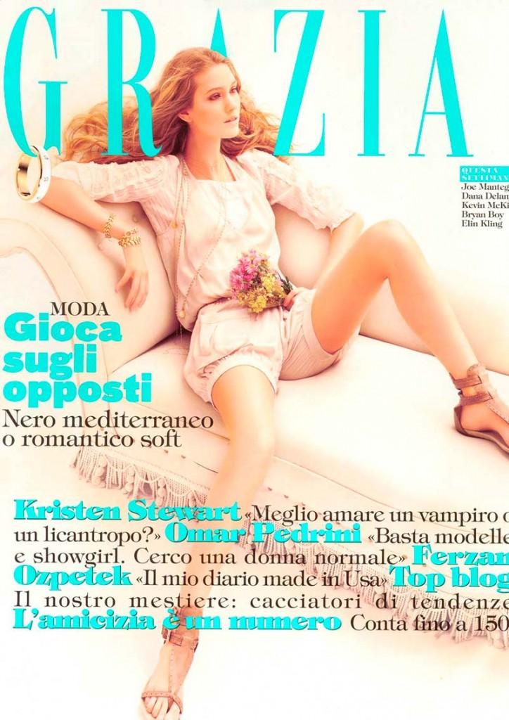 Фото - Стин Мюнх на обложке журнала Grazia