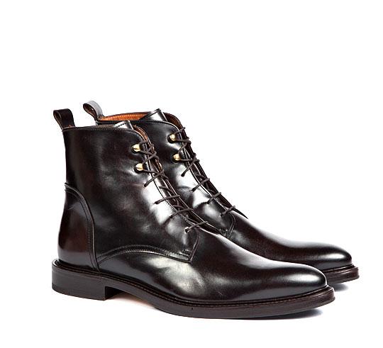 Фото - Высокие ботинки на шнуровке