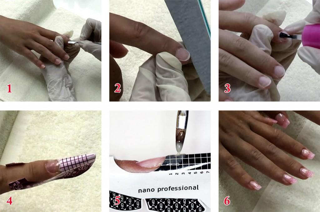 Фото-инструция: как нарастить ногти гелем дома