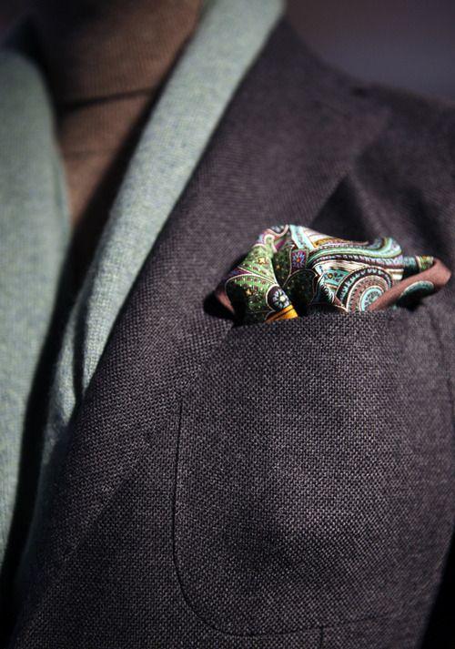 Фото - мужские платки для пиджака