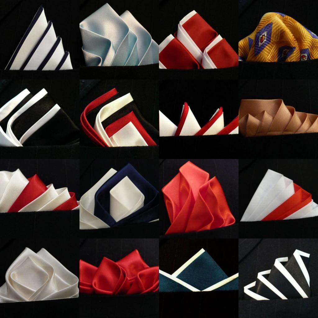 Фото - разные формы и стили складывания шелкового платка