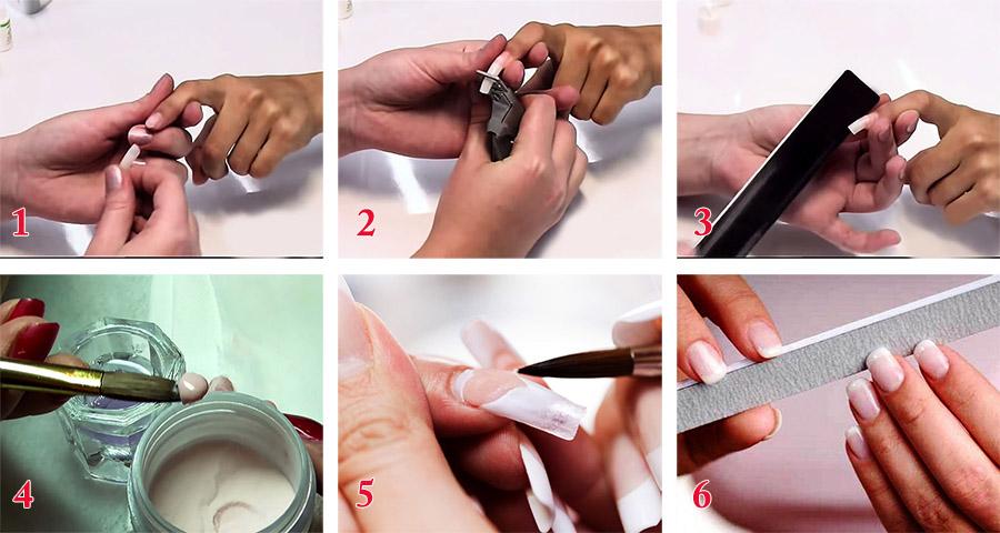 Фото-инструкция: наращивание ногтей на типсах дома