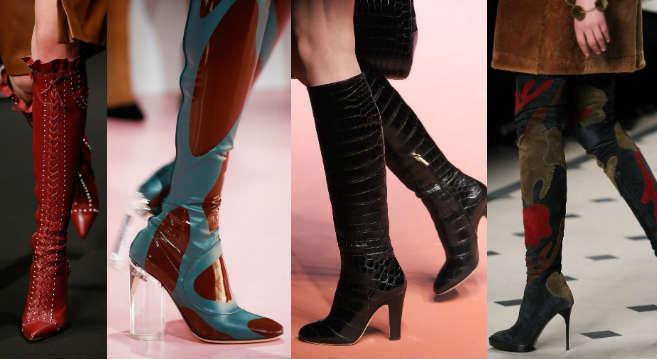 Модные сапоги осень 2015 фото женские