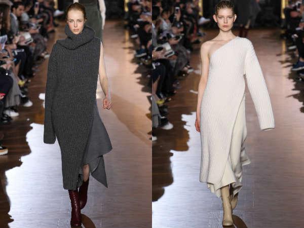 Фото - свитера с асимметричным дизайном в моде в осенне-зимнем сезоне