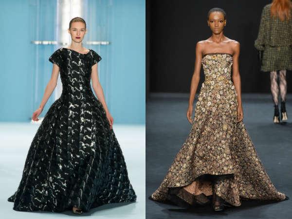 Фото - длинные платья из коллекции Carolina Herrera