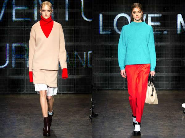 Фото - женские свитера в моде 2015: яркие краски