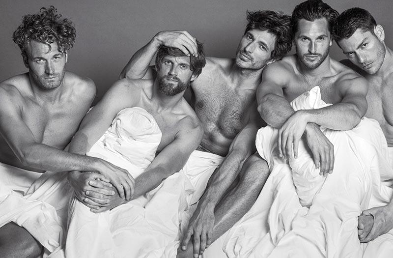 Черно-белое фото мужчин моделей