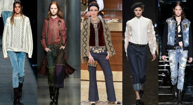 Фото - Модные женские джинсы сезона осень-зима 2015-2016