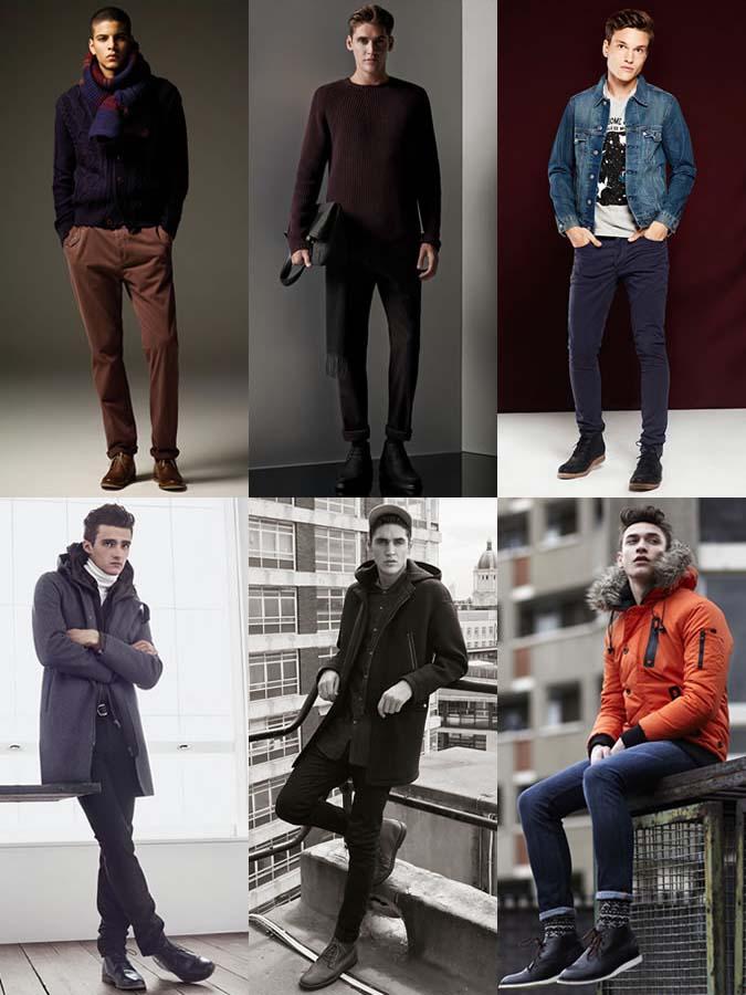 Фото - с чем носить мужские ботинки зимой 2016