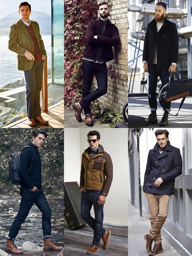 Фото - Мужские ботинки-броги в моде 2015-2016
