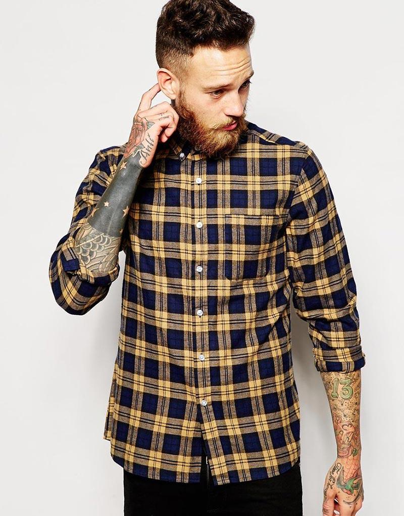 "Фото - Мужская клетчатая рубашка ""шотландка"""