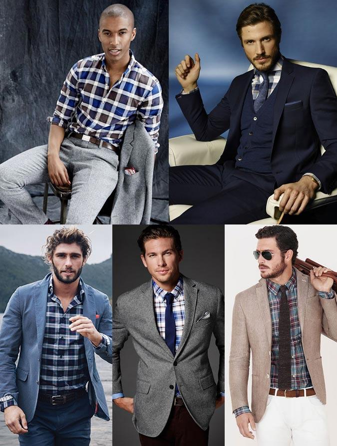 Фото - Пример применения шотландской рубашки в элегантном мужском образе