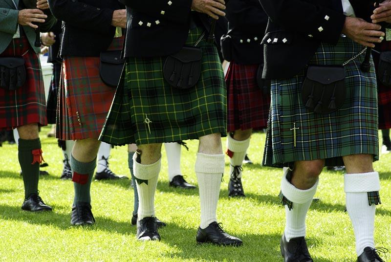 Фото - тартан и шотландские килты