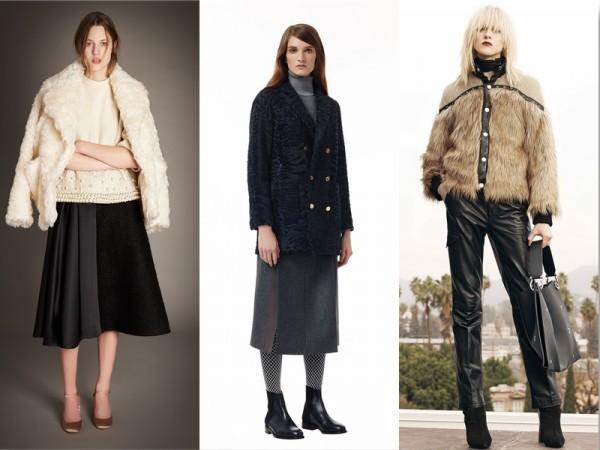 Фото - модная женская верхняя одежда из меха 2015