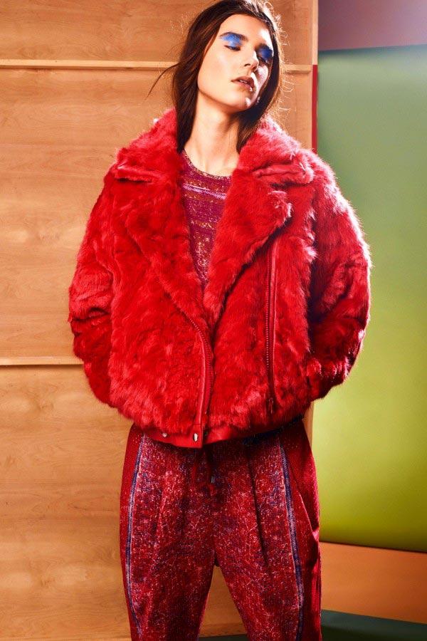 Фото - Коллекция женских полушубок от Preen Line 2015