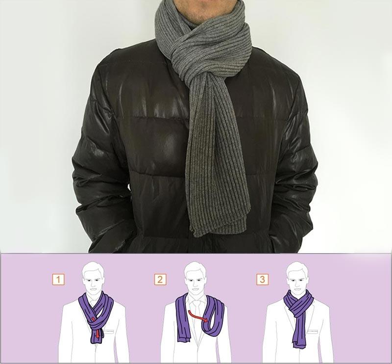 мужской шарф как завязывать и с чем носить