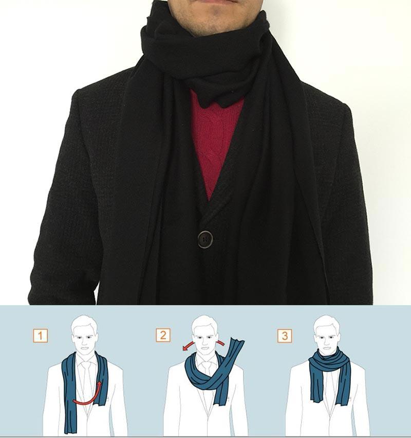 Фото - Классический способ завязывания шарфа