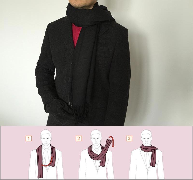 Фото - Творческий способ завязывания шарфа
