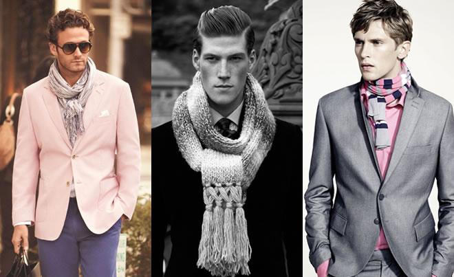 Фото - как носить и завязывать мужской шарф