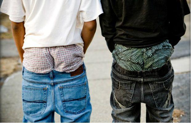 Фото - обвисшие джинсы