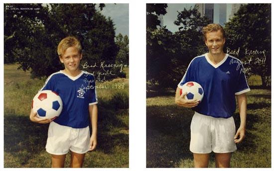 Фото - Брэд Кроэниг увлекается футболом с детства