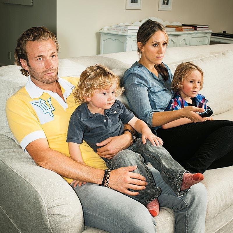 Фото - Кроэниг со своей семьей